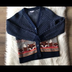 Intarsia Fox Cardigan From Cooperative UO Size S